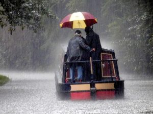 couple in storm
